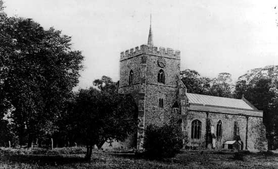 The 12th century parish church of St Mary the Virgin.