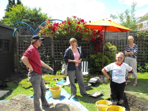Carenza Lewis ,second left, is running the test pit project across the East of England.