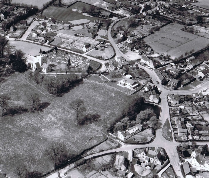 Aerial photo of Little Green circa 1964