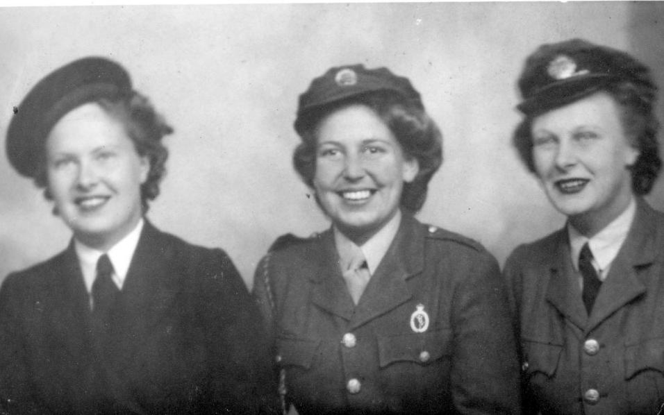 Clare, Brenda Dawson and Nina in Uniform
