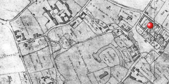 """1811 Pre enclosure plan made by the surveyors before the """"great land swap"""" at enclosure"""