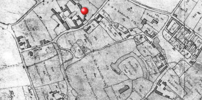 """1811 Pre enclosure plan made by the surveyors before the """"great land swap"""" at enclosure."""