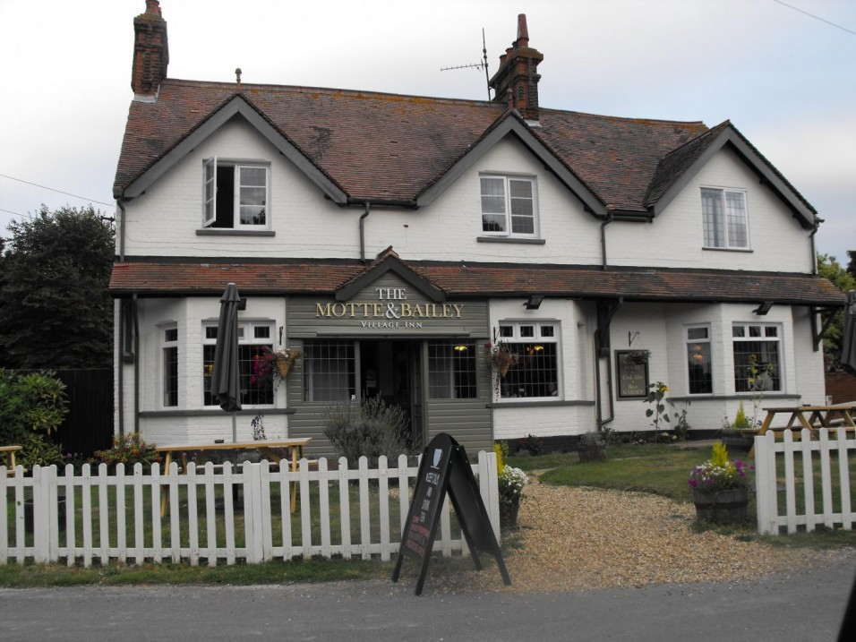 The Motte and Bailey public            house used to be called the White Horse
